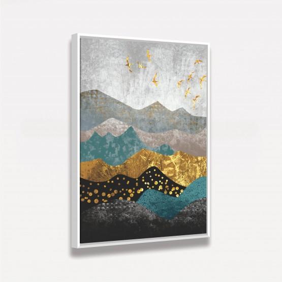 Quadro Abstrato Padrão Montanhas em Arte Moderna