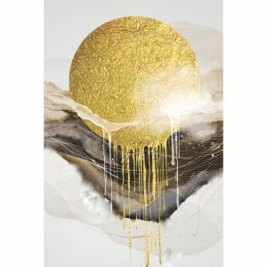 Quadro Abstrato decorativo Sol Dourado Luxury