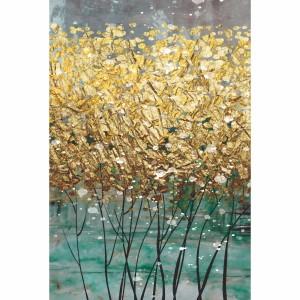 Quadro Abstrato em Arte Dourada Tela Moderna