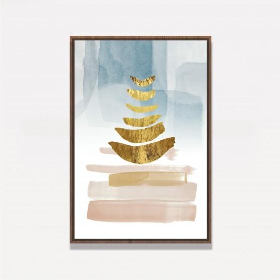 Quadro decorativo Abstrato Golden Elegante