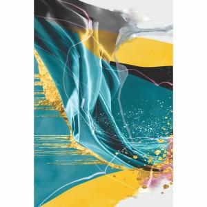 Quadro Abstrato Moderno Nordic Colorido Luxo