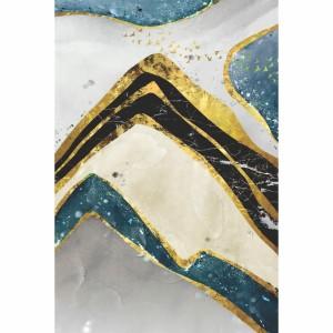 Quadro Abstrato Nordic Dourado em Arte decorativo