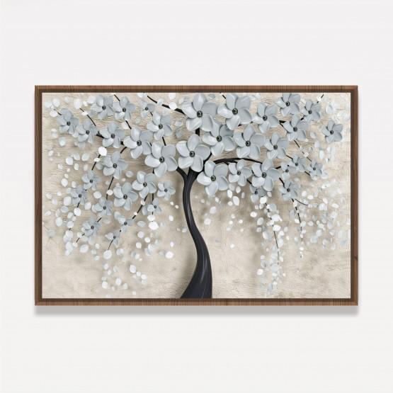 Quadro Árvore Flores Cerejeiras Brancas em Arte decorativo