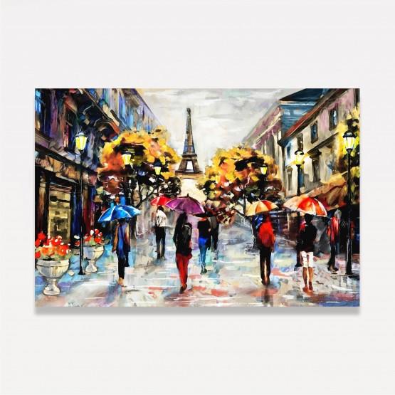 Quadro Paris Torre Eiffel Dia Chuvoso em Arte