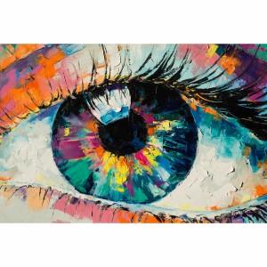 Quadro Abstrato Olho em Cores Coloridas Artístico