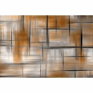 Quadro Abstrato Pintura Moderna Design - Tons de Marrom
