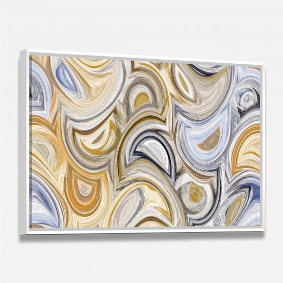 Quadro Abstrato Curvas Arte em Tela Decorativo