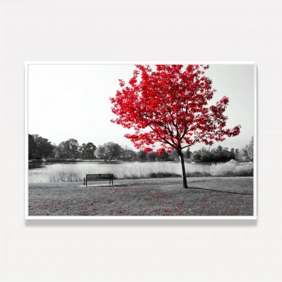 Quadro Árvore Paisagem - Red Tree Of Life