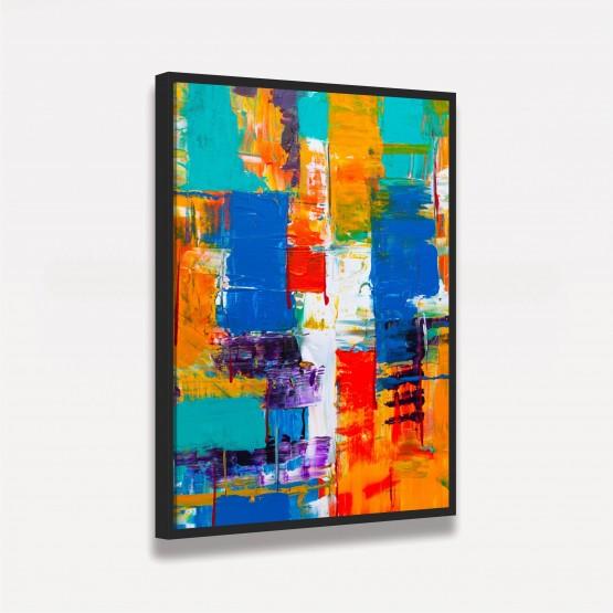 Quadro Abstrato Pintura Cores Tropicais
