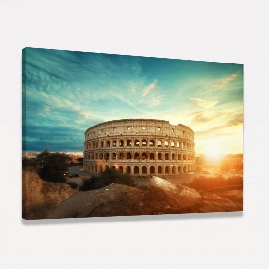 Quadro Roma Coliseu Ao Entardecer