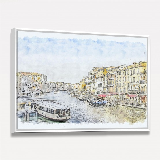 Quadro Veneza Artístico - Canal de Viena