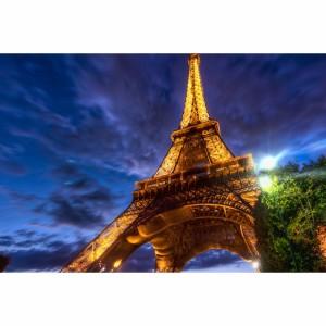 Quadro Torre Eiffel em Noite de Paris