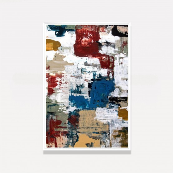 Quadro Abstrato Tons Terrosos