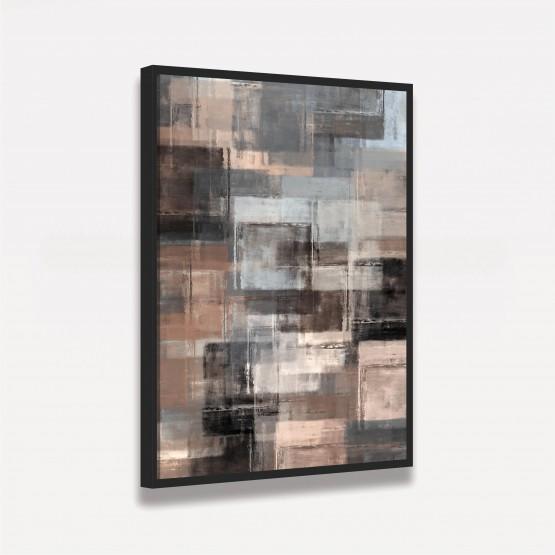 Quadro Abstrato Elegante Arte Tons de Marrom