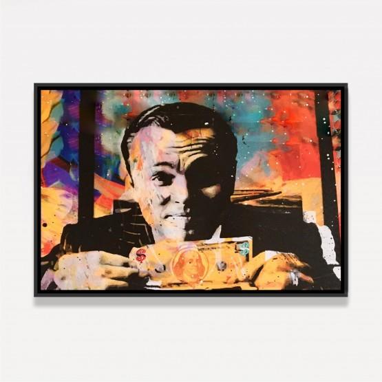 Quadro Lobo de Wall Street Abstrato Colorido