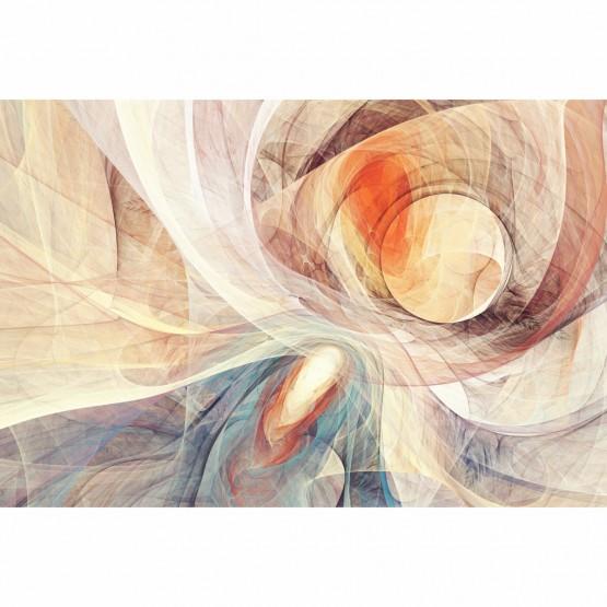 Quadro Abstrato Yin Yang Curvas Digital
