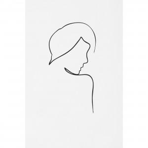 Quadro Abstrato Art de Linhas Mulher Minimalista