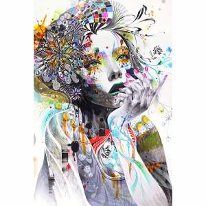 Quadro Mulher Abstrata Artístico Colorido