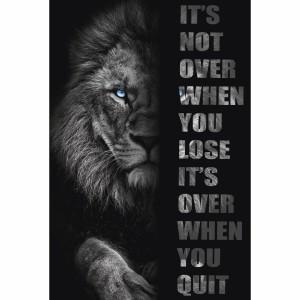 Quadro Leão Motivacional Acaba Quando Você Desiste
