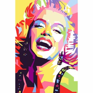 Quadro Marilyn Monroe Colorido Artístico