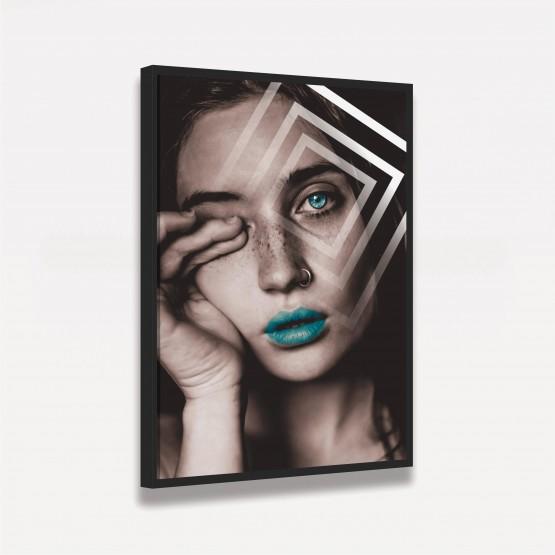 Quadro Mulher The Eye Abstrato Arte Digital decorativo