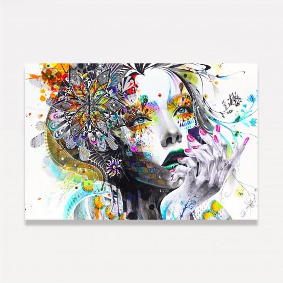 Quadro Mulher Abstrata Artístico - Colorful