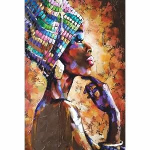 Quadro Mulher Negra Artístico decorativo Arte Abstrata