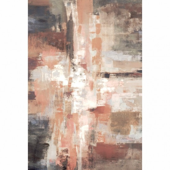 Quadro Abstrato Vertical Tons Terrosos
