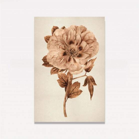 Quadro Flor Design Gold em Arte decorativo