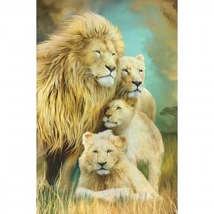 Quadro Decorativo Família de Leões Artístico