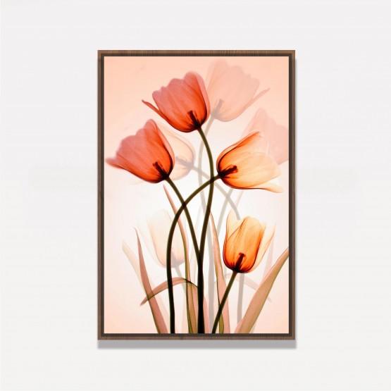 Quadro Flores Três Tulipas Artístico
