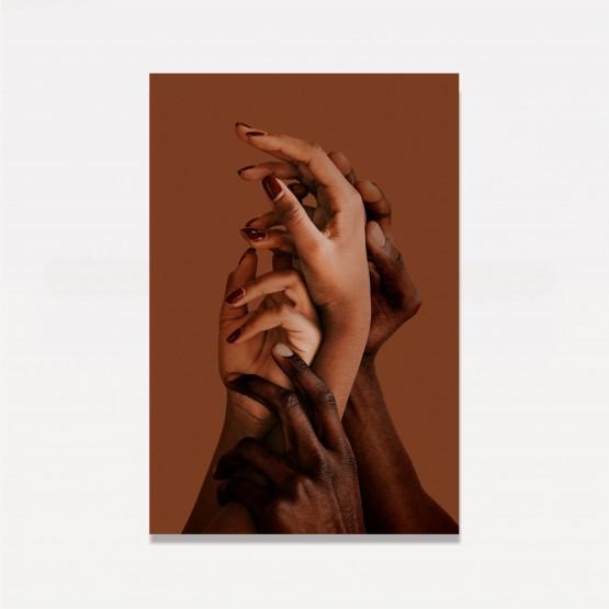 Quadro Abstrato em Arte - Hands Together