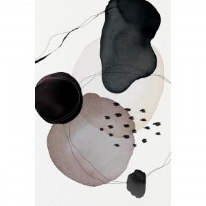 Quadro Abstrato Arte Moderna Tons de Preto e Cinza