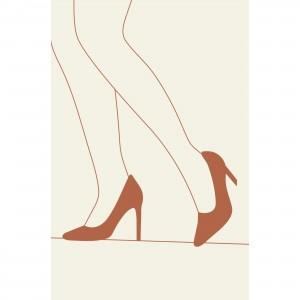 Quadro Mulher de Salto Artístico Minimalista decorativo
