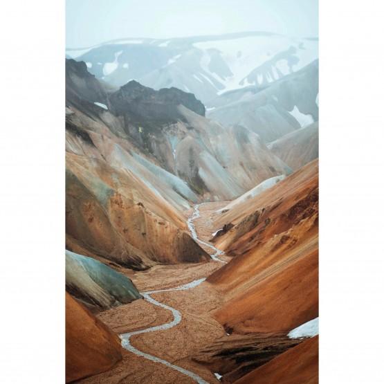 Quadro Paisagem Natureza - Córrego Entre as Montanhas