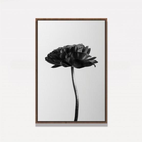 Quadro Flor em Arte Preto e Branca - Black Flower