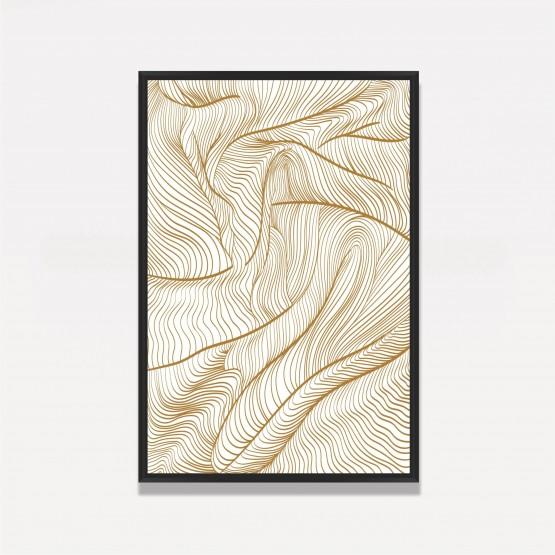 Quadro Abstrato Linhas em Ondas