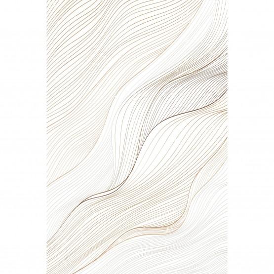 Quadro Abstrato Linhas Curvas Modernas