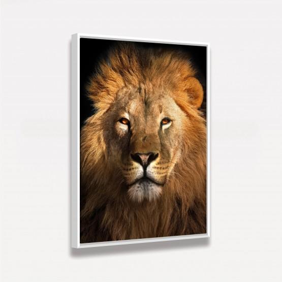 Quadro Leão Africano decorativo - Lion Face Art