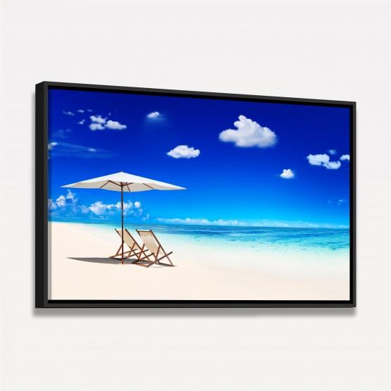 Quadro decorativo Praia Mar Águas Claras Céu Azul