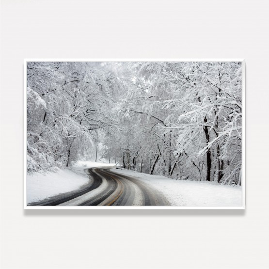 Quadro Rua Curva Paisagem Congelada