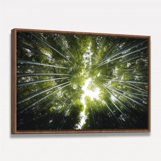 Quadro Floresta de Bambus Folhas Verde
