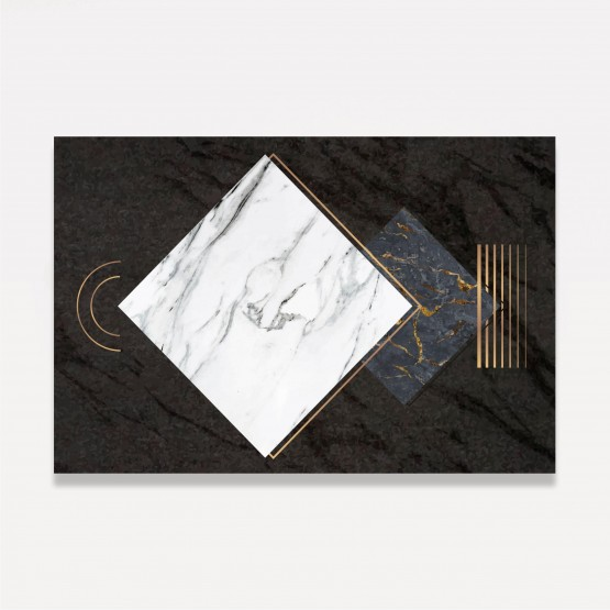 Quadro Abstrato Marmorizado Dark Design