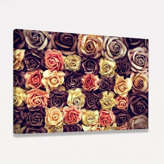 Quadro Rosas Vintage Envelhecidas