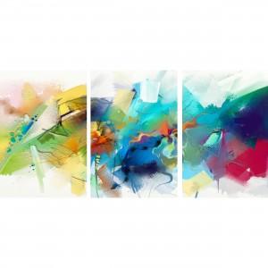 Quadro Abstrato Moderno Mosaico Colorido
