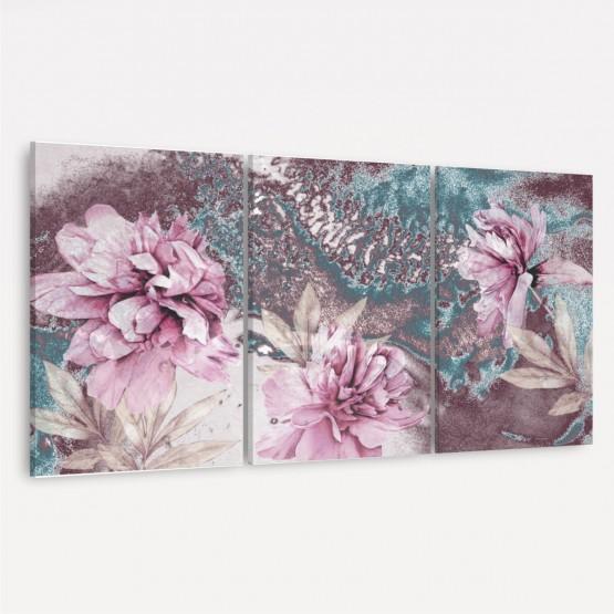 Quadro decorativo Flores Artística Trio Rústico