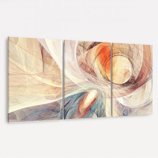 Quadro decorativo Abstrato Yin Yang Curvas Digital