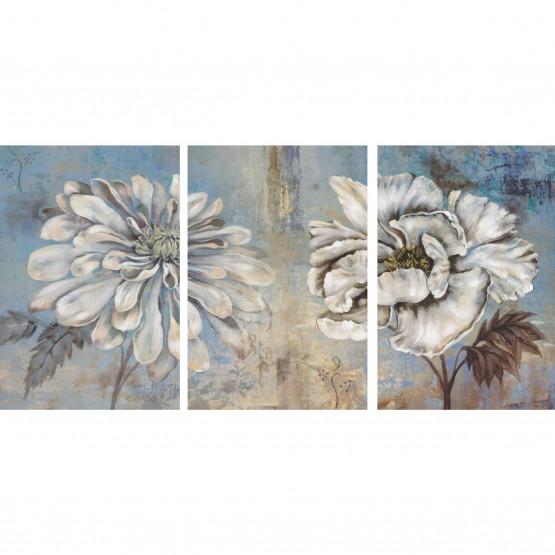 Quadro Flores Peônias Vintage em Arte  - Rustic Peonies
