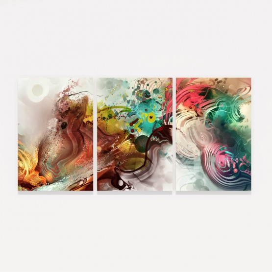 Quadro Abstrato Colorido Moderno Mosaico