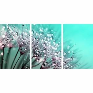 Quadro Flores Dente de Leão Azul Claro Artístico